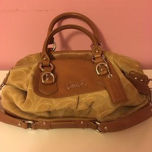 Suede Coach purse.